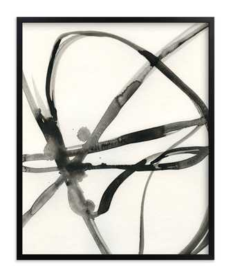 """Plant Cell 30"""" x 40"""" Framed// Rich Black Frame// Standard Borders and Matting - Minted"""
