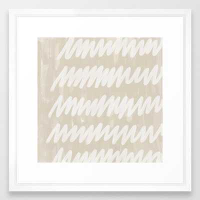 static grey Framed Art Print - Society6
