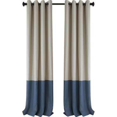 Vallejo Striped Blackout Thermal Grommet Single Curtain Panel - Wayfair