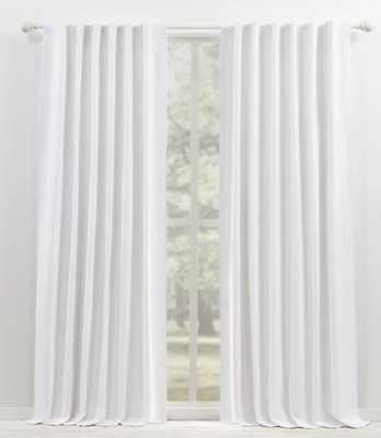 "Waller Solid Blackout Thermal Rod Pocket Single Curtain Panel 96"", White - Wayfair"