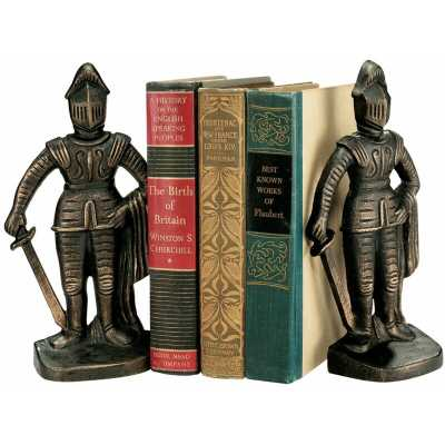 Medieval Knight Iron Bookends (Set of 2) - Wayfair