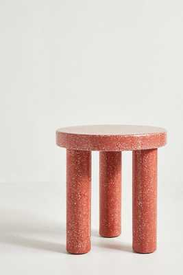 Clio Terrazzo Side Table, Red - Anthropologie