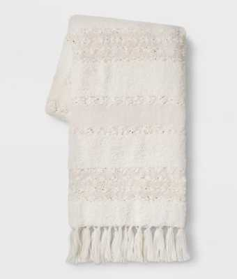 Chenille Moroccan Wedding Bed Throw Cream - Opalhouse™ - Target