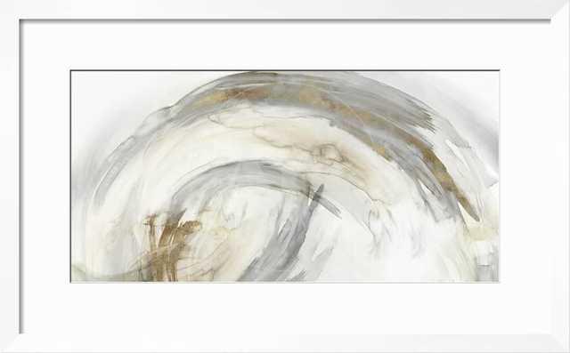 "Circle of Life II - 36"" x 24"" Art Print - Neuhaus White 1.5"" Frame - Crisp - Bright White 4"" Mat - Standard Acrylic - art.com"