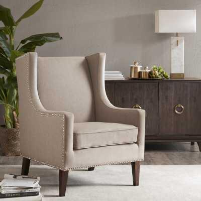 Chagnon Wingback Chair / Tan - Wayfair