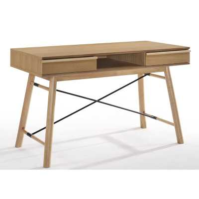 Michaelson Modern Oak Secretary Desk - Wayfair