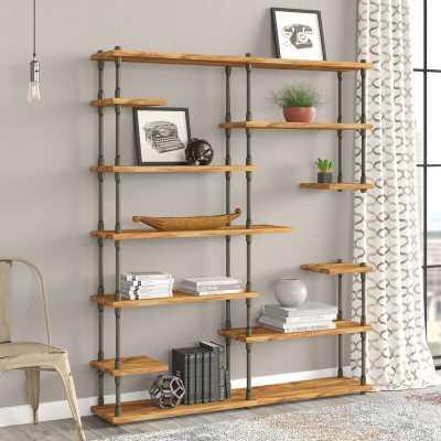 Cirillo Industrial Mid-Century Library Bookcase - Wayfair