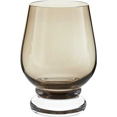 DAUPHINE VINTAGE SMOKE DOUBLE OLD-FASHIONED GLASS - CB2