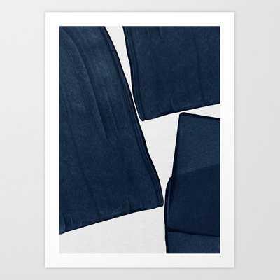 Minimalist Painting Blue III, Mid Century Modern Art Canvas - Society6