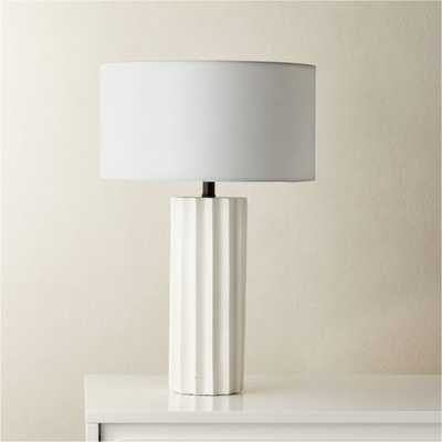 Scallop White Concrete Table Lamp - CB2