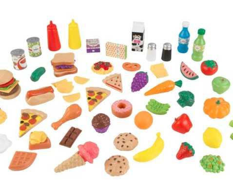65 Piece Play Food Set - Wayfair