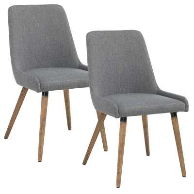 Upholstered Dining Chair, set of 2 - dark gray - Wayfair