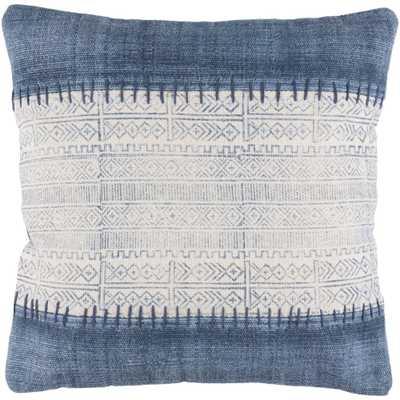 Tajo Poly Euro Pillow, Blue - Home Depot