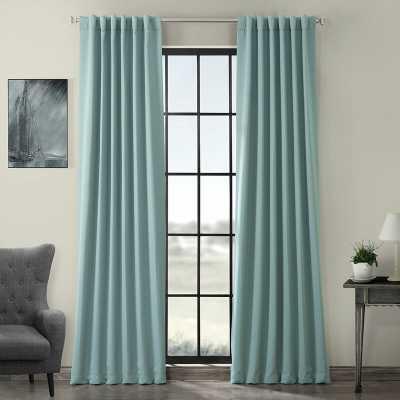 Cairo Solid Color Room Darkening Rod Pocket Curtain Panels - Wayfair