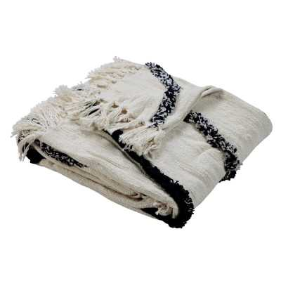 Mehdi Fringed Cotton Throw - Wayfair