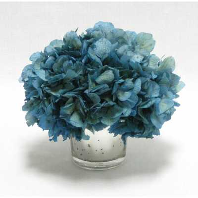 Mini Preserved Hydrangea Floral Arrangement in Vase - Perigold
