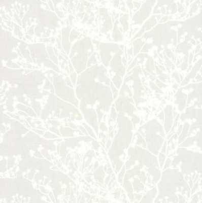 Budding Branch Silhouette Grasscloth Wallpaper - York Wallcoverings