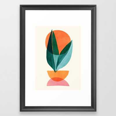 Nature Stack II / Abstract Shapes Illustration Framed Art Print - Society6