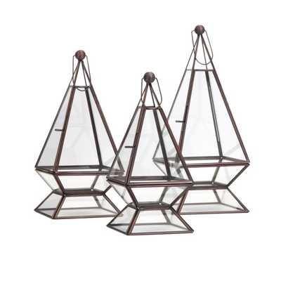 Laurel Terrariums - Set of 3 - Mercer Collection