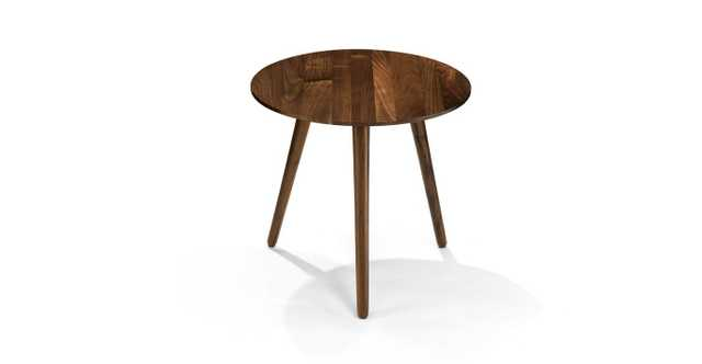 amoeba wild walnut end table - Article