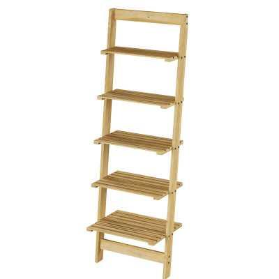 5-Tier Leaning Ladder Book Shelf - Wayfair