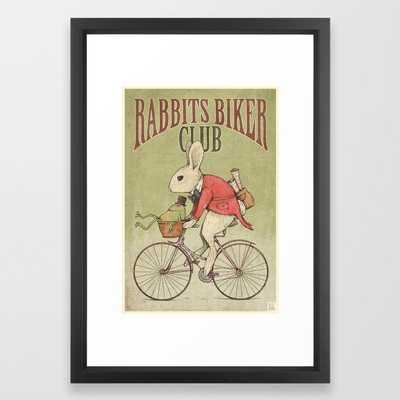 Rabbits Biker Club Framed Art Print - Society6