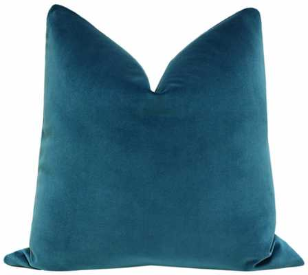 "Signature Velvet // Baltic Blue, 20"" Pillow Cover - Little Design Company"