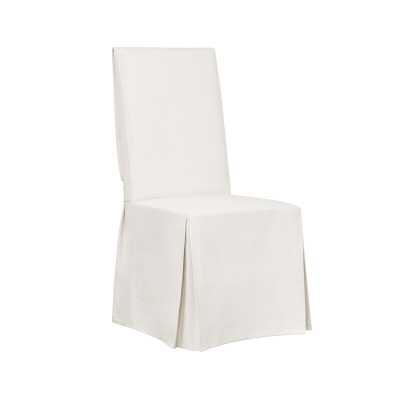 Essential Twill Box Cushion Dining Chair Slipcover / White - Wayfair