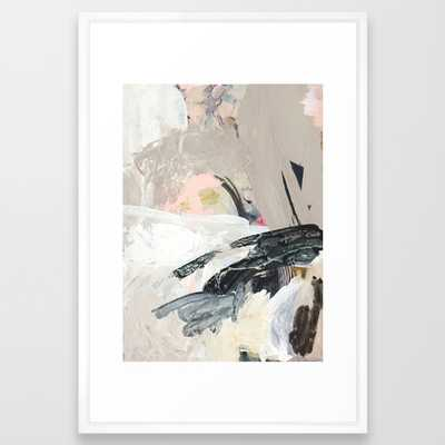 "1 0 9 Framed Art Print - 26""38"" Vector White Frame - Society6"