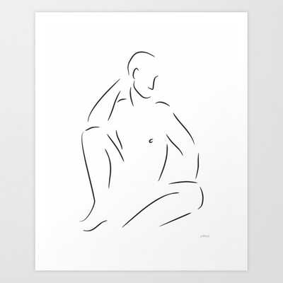 Male Nude Sketch - Society6