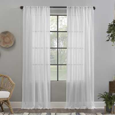 Crushed Texture Anti-Dust Linen Solid Semi Sheer Rod Pocket Single Curtain Panel - Wayfair
