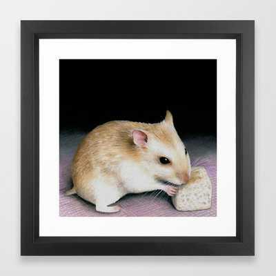 Cute Hamster Framed Art Print - Society6