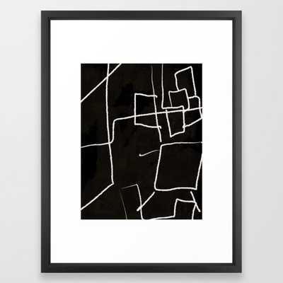 "Diluted Room IV Framed Art Print, Vector Black, 20"" x 26"" - Society6"