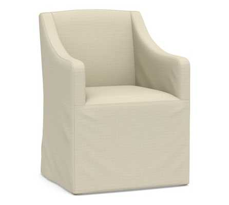 PB Classic Slope Slipcovered Dining Armchair - Pottery Barn
