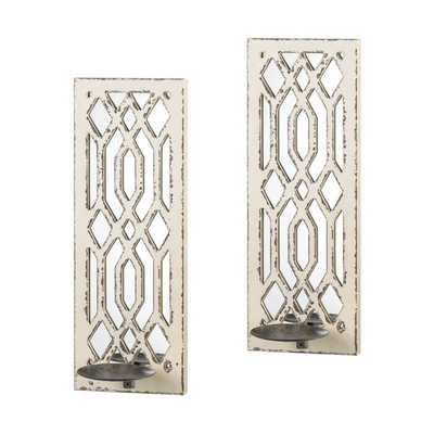Deco Tall Wood and Metal Wall Sconce (Set of 2) - Birch Lane