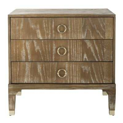Gerald 3 Drawer Nightstand - Rustic Oak - Wayfair