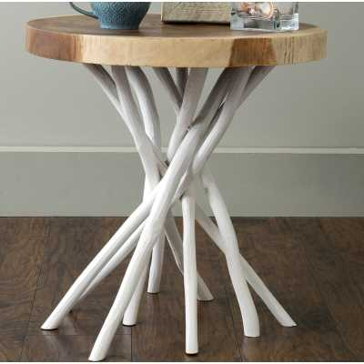 Aloysius Solid Wood Tree Stump End Table - Wayfair