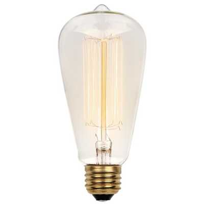 413200 60 Watt, ST20 Incandescent, Dimmable Light Bulb, Vintage Yellow (2450K) E26/Medium (Standard) Base - Wayfair