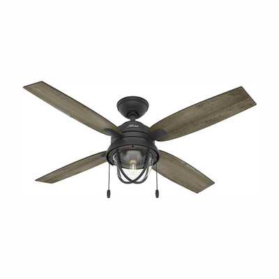 Barnes Bay 52 in. LED Indoor/Outdoor Natural Iron Ceiling Fan with Light Kit - Home Depot