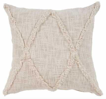 Carlton Khaki Diamonds Natural 20 in. x 20 in. Indoor Throw Pillow - Home Depot