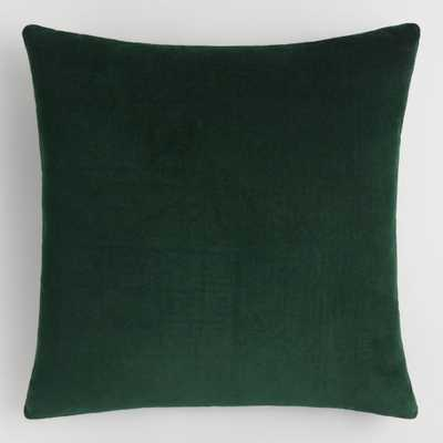 Forest Green Velvet Throw Pillow by World Market - World Market/Cost Plus