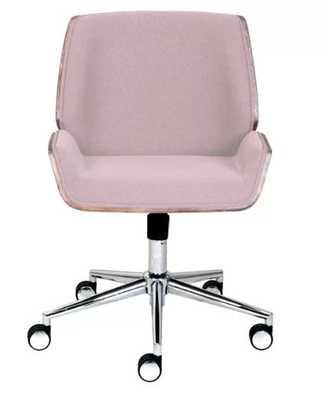 Ophelia Bentwood Desk Chair, pink - AllModern