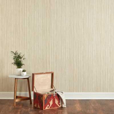 "Cruise Grasscloth 33' L x 20.5"" W Peel and Stick Wallpaper Roll - Wayfair"