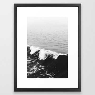OCEAN WAVES Framed Art Print by Adventure & Magic - Society6