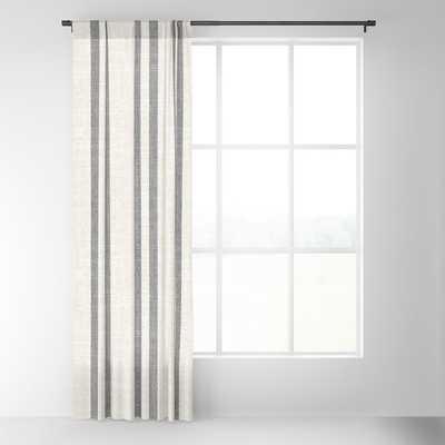 AEGEAN GREY STRIPE Blackout Curtain - Set of Two - Society6