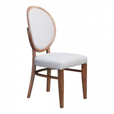 Regents Dining Chair Walnut & Light Gray, Set of 2 - Zuri Studios