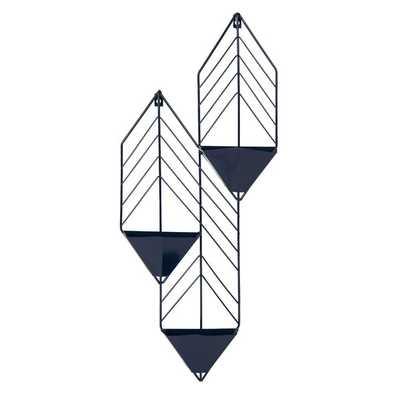 Tain Metal Wall Planter-Navy Blue - Wayfair