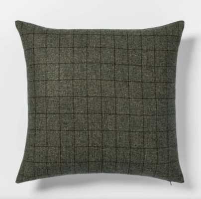 Woven Wool Blend Windowpane Square Throw Pillow - Threshold - Green - Target