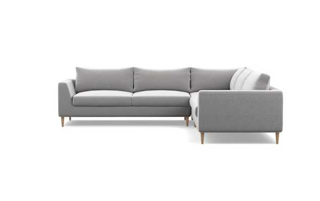 Asher Corner Sectional Sofa with natural oak legs - Interior Define