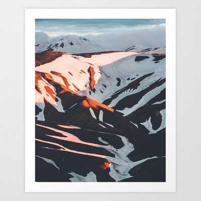 Golden Hour PNW Glacier Mountain Hike Art Print - Society6